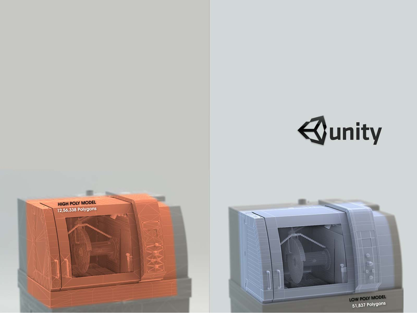 High Poly To Low Poly Modeling